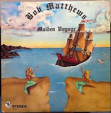 BOB MATTHEWS maiden voyage LP VG+ Private 70s WI Psych Acid Rock Rare w/Insert