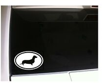 """Dachshund Oval Vinyl Car Decal 6"""" *P95 Dog Pet Sticker Rescue Weiner Hot Dog"""