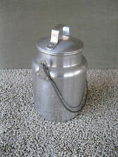 Vintage Milk Can LEYSE Aluminum One Quart Dairy Cream Pail, Bail Handle