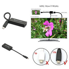 MHL Micro USB to HDMI HD TV Adapter Cable For for Samsung Galaxy Note2 3 S3 S4