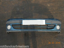 RENAULT CLIO 1999 MK2 FRONT BUMPER WITH FOG LIGHTS IN BLUE GREEN