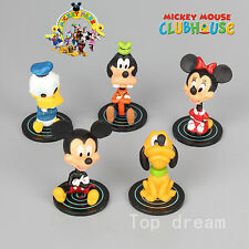 5X Mickey Minnie Mouse Cake Toppers Clubhouse Donald Duck Goofy Pluto Figures