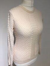 Jersey de lana con textura Karen Millen Blush km 2 Reino Unido 10-12