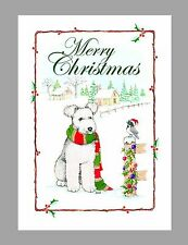 "Pumi ""White"" Dog Christmas Cards, Box of 16 Cards & 16 Envelopes"