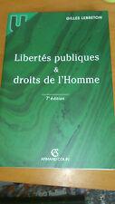 Gilles Lebreton - Libertés publiques et droits de l'Homme (7eme édition)