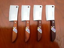 "4PCS THAI KITCHEN KNIFE KIWI BRAND SMALL CLEAVER 3"" #504 STAINLESS CHEF COOKING"