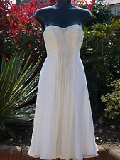 MONSOON LILY IVORY WHITE SILK BEADED DRESS 10 BEACH WEDDING CRUISE RACES BNWT