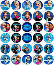 "30 x ""Frozen"" Birthday Collection Edible Rice Wafer Paper Cupcake Toppers"