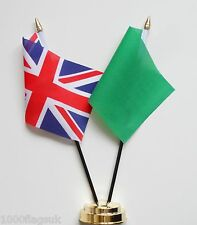 United Kingdom & Libya 1977 to 2011 Friendship Table Flag Set