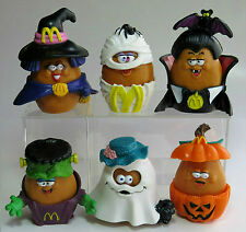 LOOSE McDonald's 1993 McNUGGET BUDDIES HALLOWEEN Set of 6 Nugget Buddy COMPLETE