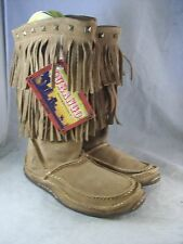 NEW WOMEN'S SANTE FE BY DURANGO FRINGE BOOT (DCRD101) TAN LEATHER 7 MEDIUM $160