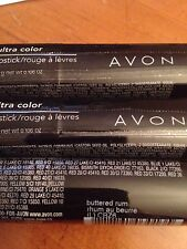 Avon 3 Ultra Color  Lipsticks in BUTTERED RUM  New and Fresh