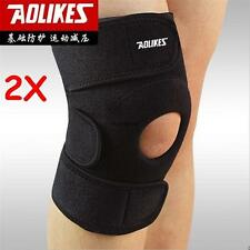2X Adjustable Protect GYM Leg Knee Patella Pads Support Brace Wrap Protector Pad