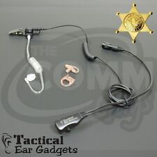 New Hawk Lapel Mic Replacement Earpiece PTT Set with Tube and Earmolds EP1305QR