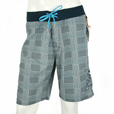 Paul Frank Size 36 $106 CAD Mens Blue Plaid Check Swim Trunks Board Shorts NWT