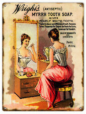 Wright's Antiseptic Tooth Soap Country Advertisement Sign