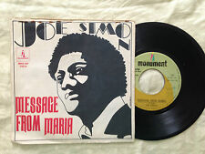 Joe Simon ‎– Message From Maria / I Worry About You - 7' Vinile 45 giri