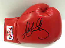 Anthony JOSHUA Heavyweight Boxer Signed Red Lonsdale Boxing Glove AFTAL COA RARE