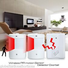 New Entry Wireless Twin Door Bell Infrared PIR Chime Motion Sensor Alarm Burglar