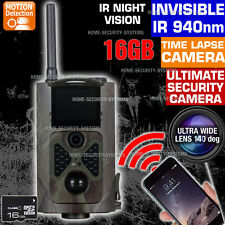 Home Security Camera 16GB Wireless 3G GSM MMS Alarm Trail Home Farm Hidden