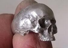 La metà della mascella Teschio Anello Argento Anello straordinari dettagli 925 Sterling Marchiato UK Made
