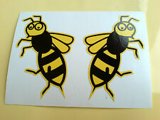 WASP Handed Motorcycle All Lambretta Vespa Scooter Fans Stickers 2 off 70mm