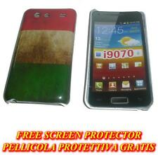 Pellicola+custodia BACK COVER rigida ITALIA per Samsung I9070 Galaxy s Advance