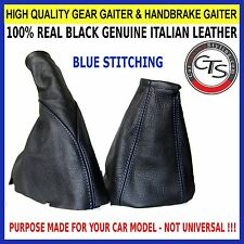 TIGRA 94-00 BLUE STITCH GEAR STICK KNOB COVER HANDBRAKE GAITER SET