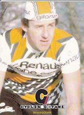 CYCLISME carte cycliste BERNARD QUILFEN équipe RENAULT cycles GITANE 1980