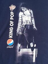 Michael Jackson KING OF POP 25th anniversary BAD TOUR Pepsi T-Shirt sz L