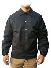 New Men's Snap Front Lined Windbreaker Water Proof Nylon Coaches Jacket Style