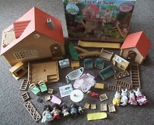 SYLVANIAN FAMILIES tomy epoch VINTAGE mini flocked animal TREE HOUSE & DOLLS