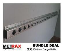 2x Cargo rail 1000mm lashing track load restraint Trailer Van racking accessory