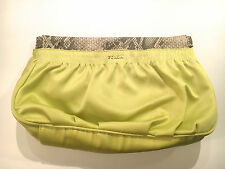 Furla Clutch / Shoulder Bag in Mango Yellow and Roccia Leather NWT 648050