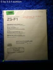 Sony Bedienungsanleitung ZS F1 Personal Audio System (#0350)