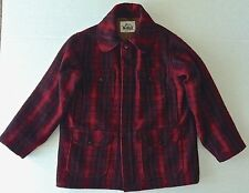 VTG 1960s Woolrich Buffalo Plaid Hunting Jacket Coat Wool Blend Lined Mens 44