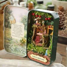 Wooden Puzzle 3D Doll House Dollhouse Kit for Box Theatre Trilogy Green Forest