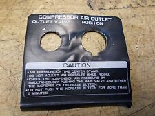 1984 1985 1986 1987 GL1200 GL 1200 Goldwing Compressor Air Outlet Cover Plate