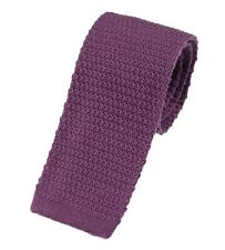 Men's Plain Lilac Wool Knitted Tie (U102/34)