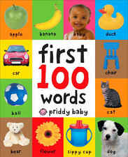First 100 Words Board Kids Children Education Book Toddler Learning Baby Infant