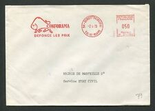France libre sello 1973 carta cover conforama Bison bisonte europeo Bufallo 60710