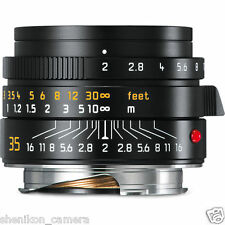 100% New Unused Leica SUMMICRON-M 35mm F2 f/2 ASPH. 6-Bit Black M 240 M9 11673