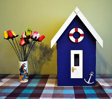 Painted Beach Hut Post Box Wedding Complete Any Colour Handmade