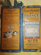 carte michelin 72 angouleme  limoges 1926