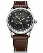 Victorinox Swiss Army Men's 241575 AirBoss Analog   Automatic Brown Watch NWT