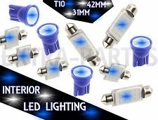 11PCS BLUE LED Lights Interior Package for T10 & 31mm Map Dome + License Plate