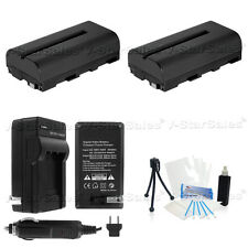 2X NP-F550 Battery + Charger Sony CCD-TR67 TR716 TR76 CCD-TR818 CCD-TR87 TR910