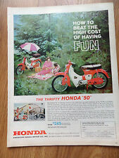 1962 Honda 50 Motorcycle Scooter Ad  The Thrifty Honda 50  on a Picnic