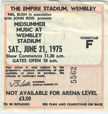 ELTON JOHN 1975 Captain Fantastic Midsummer Wembley Ticket Stub Eagles