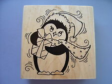 STAMPENDOUS RUBBER STAMPS PEN PATTERN PENGUIN STAMP 2014